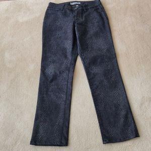 Pleather animal skin jeans